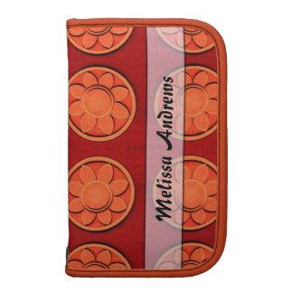 Personalized Orange flower pattern Planners