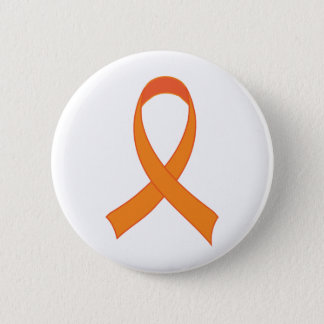 Personalized Orange Ribbon Awareness Gift 6 Cm Round Badge