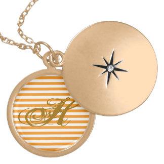 Personalized Orange Striped Custom Jewelry