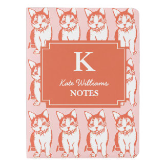 Personalized Orange & White Cats Notebook