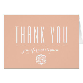 Personalized Orchid Thank You Cards