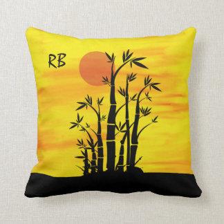 Personalized Oriental Bamboo Sunset Cushion