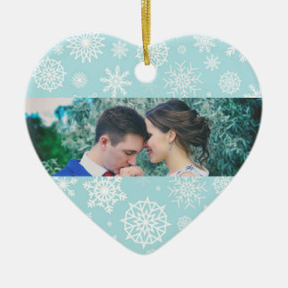 Personalized Our First Christmas Snowflake Photo 1 Christmas Ornament