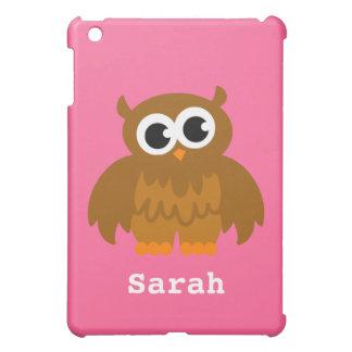 Personalized owl cartoon Ipad mini case | Pink
