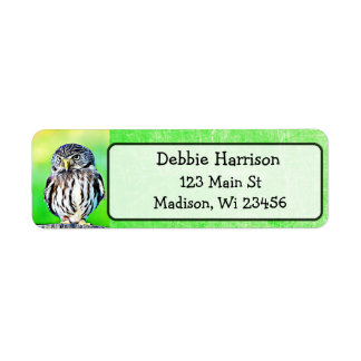 Personalized Owl Return Address Labels
