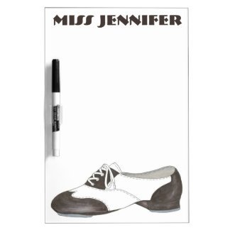 Personalized Oxford Tap Shoe Dance Teacher Gift Dry Erase White Board