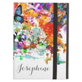 Personalized Paint splash Butterflies Pop Art Cover For iPad Air