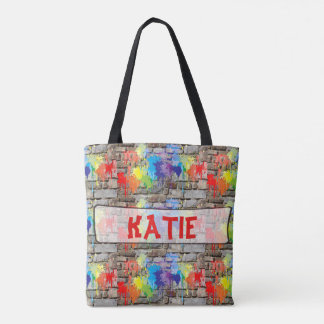 Personalized Paint Street Art Graffiti Tote Bag
