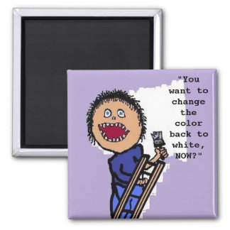 Personalized Painter Square Magnet