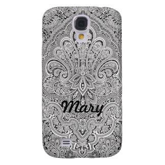 Personalized Paisley Art HTC Vivid Phone Case Galaxy S4 Case
