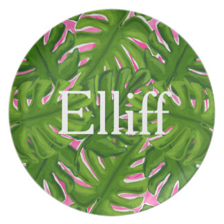 Personalized Palm Tree Plate