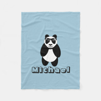 Personalized Panda Fleece Blanket