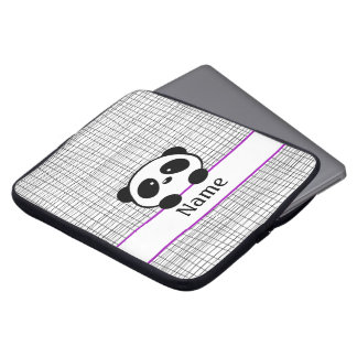 Personalized Panda Purple Laptop Sleeve - 15 inch