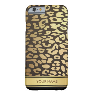 Personalized Panther Skin Glam Black Gold Case