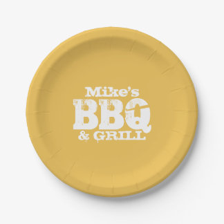 Personalized paper plates for BBQ party