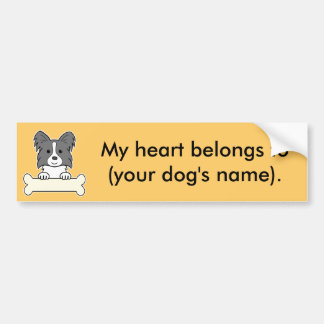 Personalized Papillon Bumper Sticker