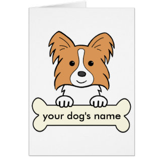 Personalized Papillon Card