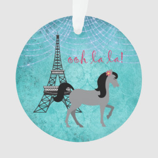 Personalized Paris Pony Oh La La Grey Horse