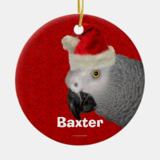 Personalized Parrot Christmas Ornament