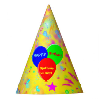 Personalized party balloons party hat