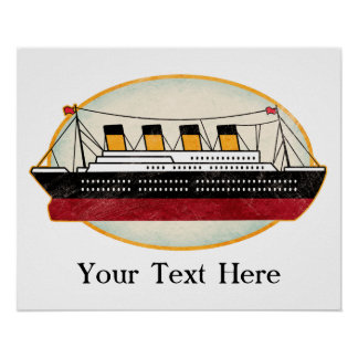 Personalized Passenger Steamship Poster
