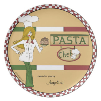 Personalized Pasta Chef Plate