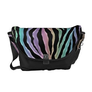 Personalized Pastel Rainbow Tiger Messenger Bag