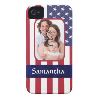 Personalized Patriotic American flag iPhone 4 Cover