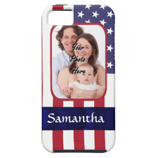 Personalized Patriotic American flag iPhone 5 Cover