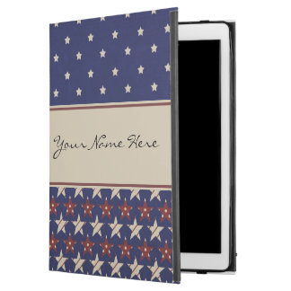 "Personalized Patriotic American Stars and Stripes iPad Pro 12.9"" Case"