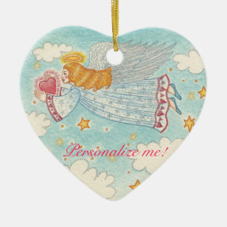 Personalized Peace Angel Ornament