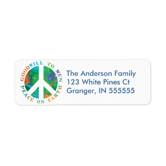 Personalized Peace on Earth Address Labels