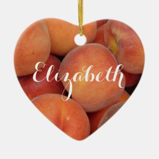 Personalized Peach Christmas Ornament