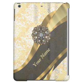 Personalized peach vintage damask pattern