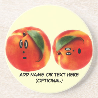 Personalized Peaches Cartoon Coaster