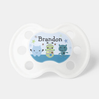 "Personalized ""Peek a Boo Monsters"" Pacifier Cute"