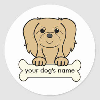 Personalized Pekingese Classic Round Sticker
