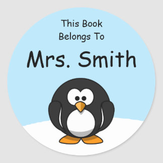 Personalized Penguin Book Label