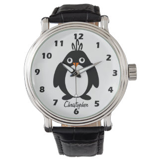 Personalized Penguin Design Watch