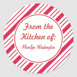 Personalized Peppermint Holiday Gift Tags Stickers