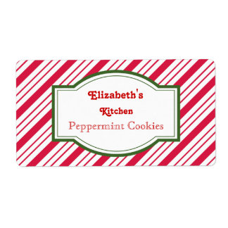 Personalized Peppermint Labels