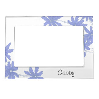 Personalized Periwinkle Blue Daisies Picture Frame