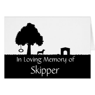Personalized Pet Bereavement Sympathy Card