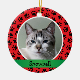 Personalized Pet Cat Photo Ornament