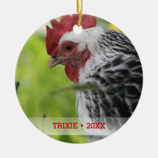 Personalized Pet Chicken Photo Christmas Tree Christmas Ornament