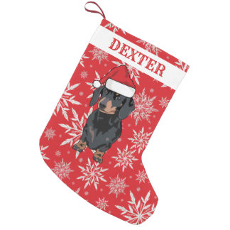 Personalized Pet Dog | Dachshund Gift Small Christmas Stocking