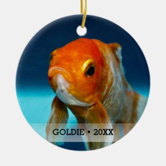 Personalized Pet Fish Photo Name Christmas Tree Christmas Ornament