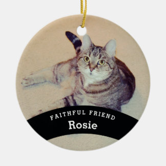 Personalized Pet Friend Add Name and Photo Christmas Ornament