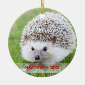 Personalized Pet Hedgehog Photo Christmas Tree Christmas Ornament