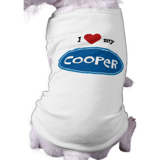 Personalized pet name Cooper Dog Tshirt